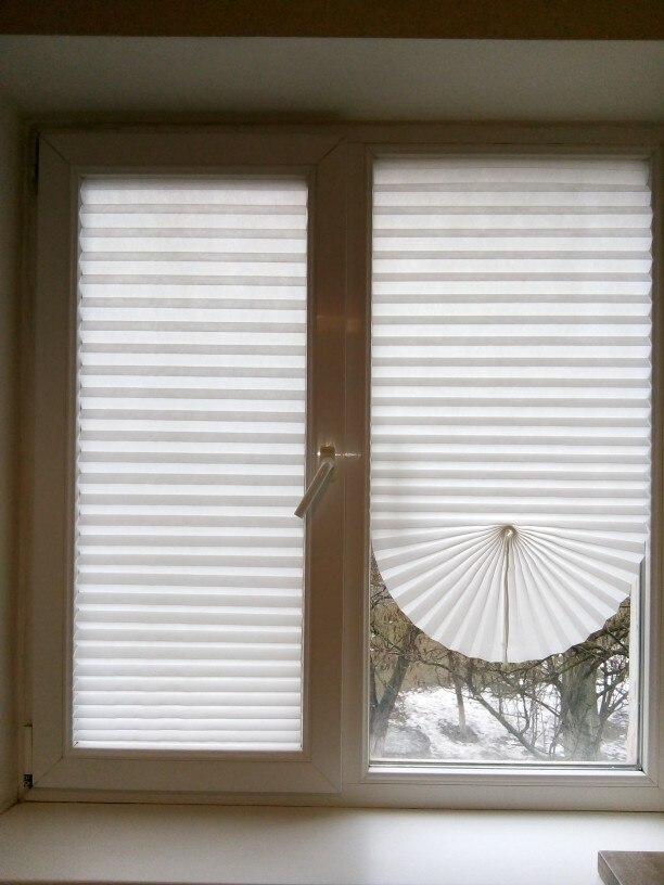 Easy Lift Cordless Pleated Light Blocking Shade Window