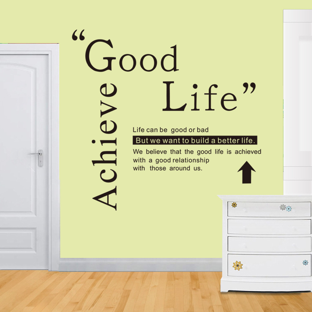 Good life Wall Quotes Decal Words Lettering Saying Wall Decor ...