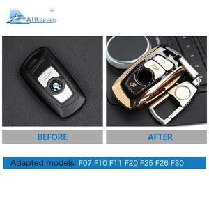 Image 5 - Airspeed ABS samochód obudowa pilota bez kluczyka wymiana zmodernizowane etui na klucze dla BMW F07 F10 F11 F20 F25 F26 F30 Car styling