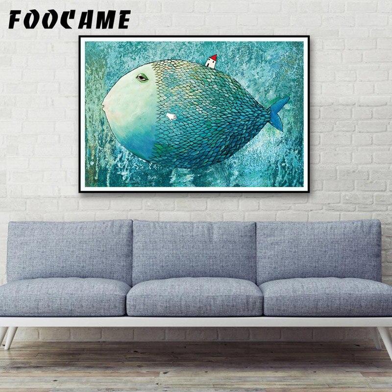 FOOCAME Big Fish Кішкентай Үйі Аннотациялар - Үйдің декоры - фото 3