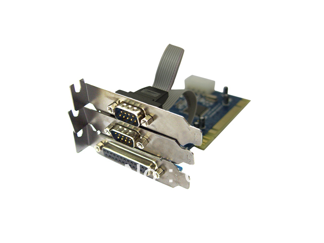 IOCREST PCI Card Combo 2-Serial & 1-Parallel Port with short sheetiron