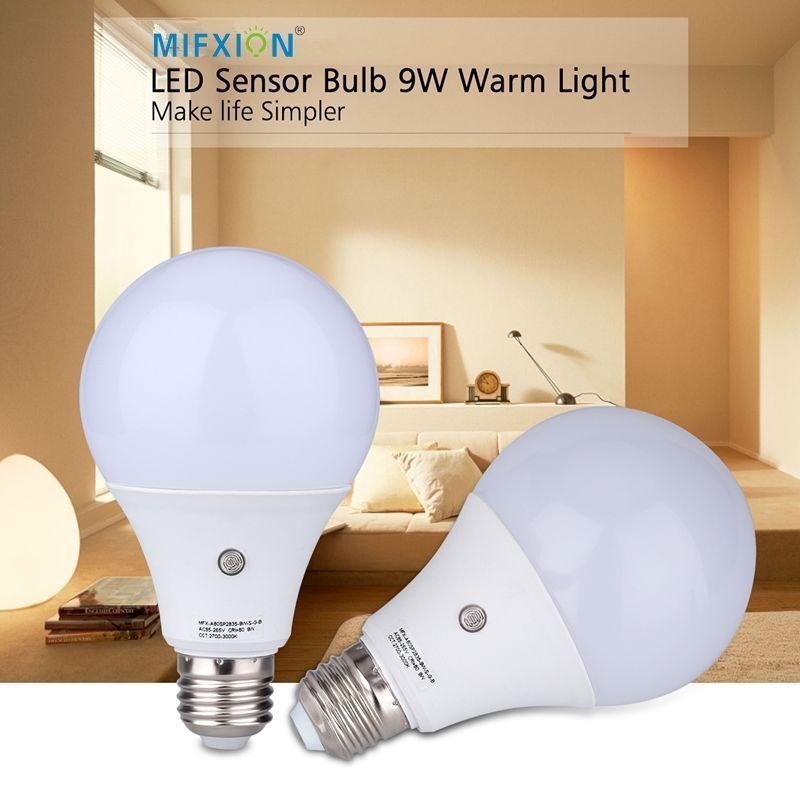 New 9w E27 Dusk To Dawn Auto Sensor Light Bulb Sensor Led Lamp Auto Lamp Bulb