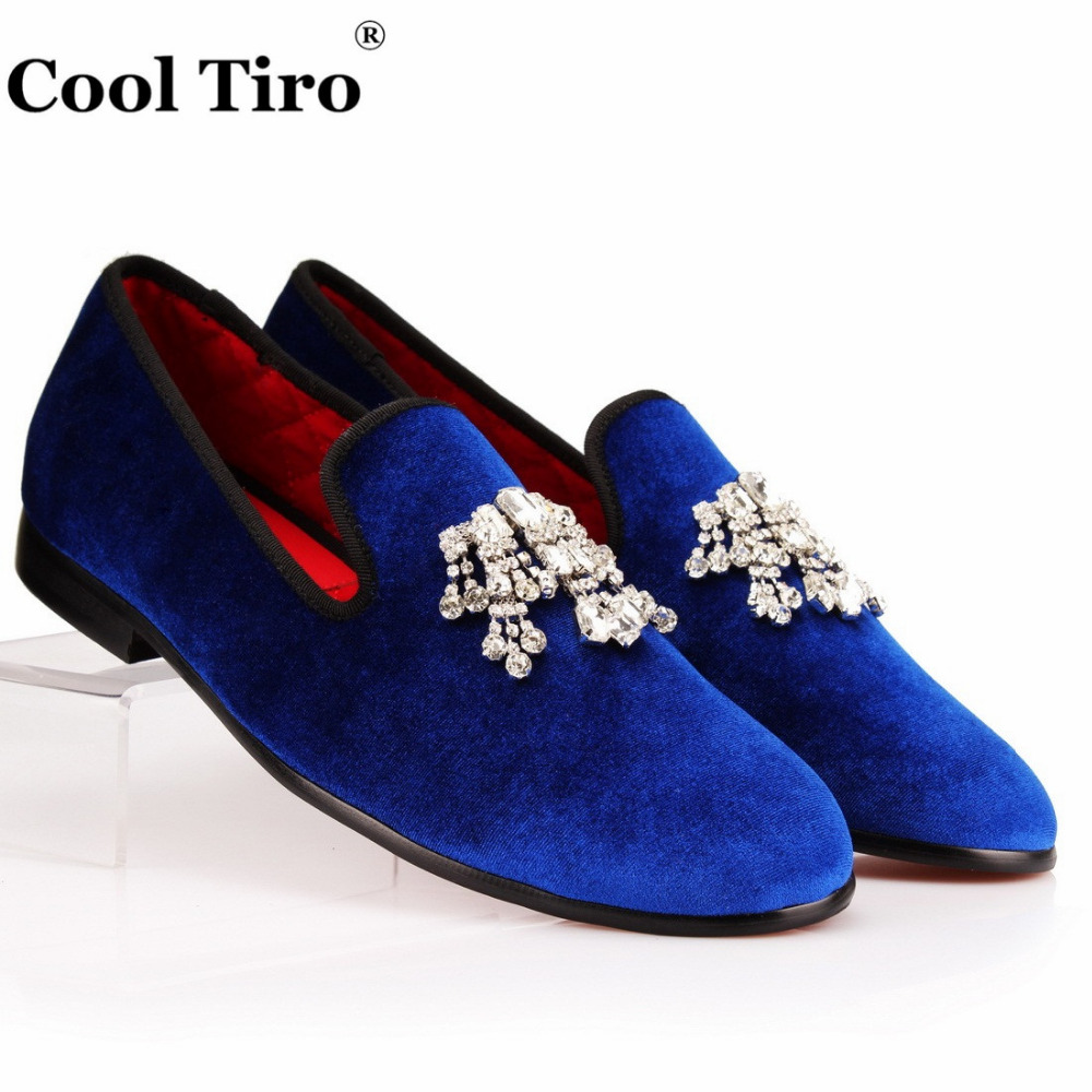 COOL TIRO Men Loafers Rhinestones