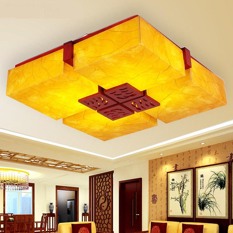 Chinese style Wooden Chinese antique lamps ceiling lamps parchment bedroom Wood Hall restaurant dining room lamp ZA ZS51