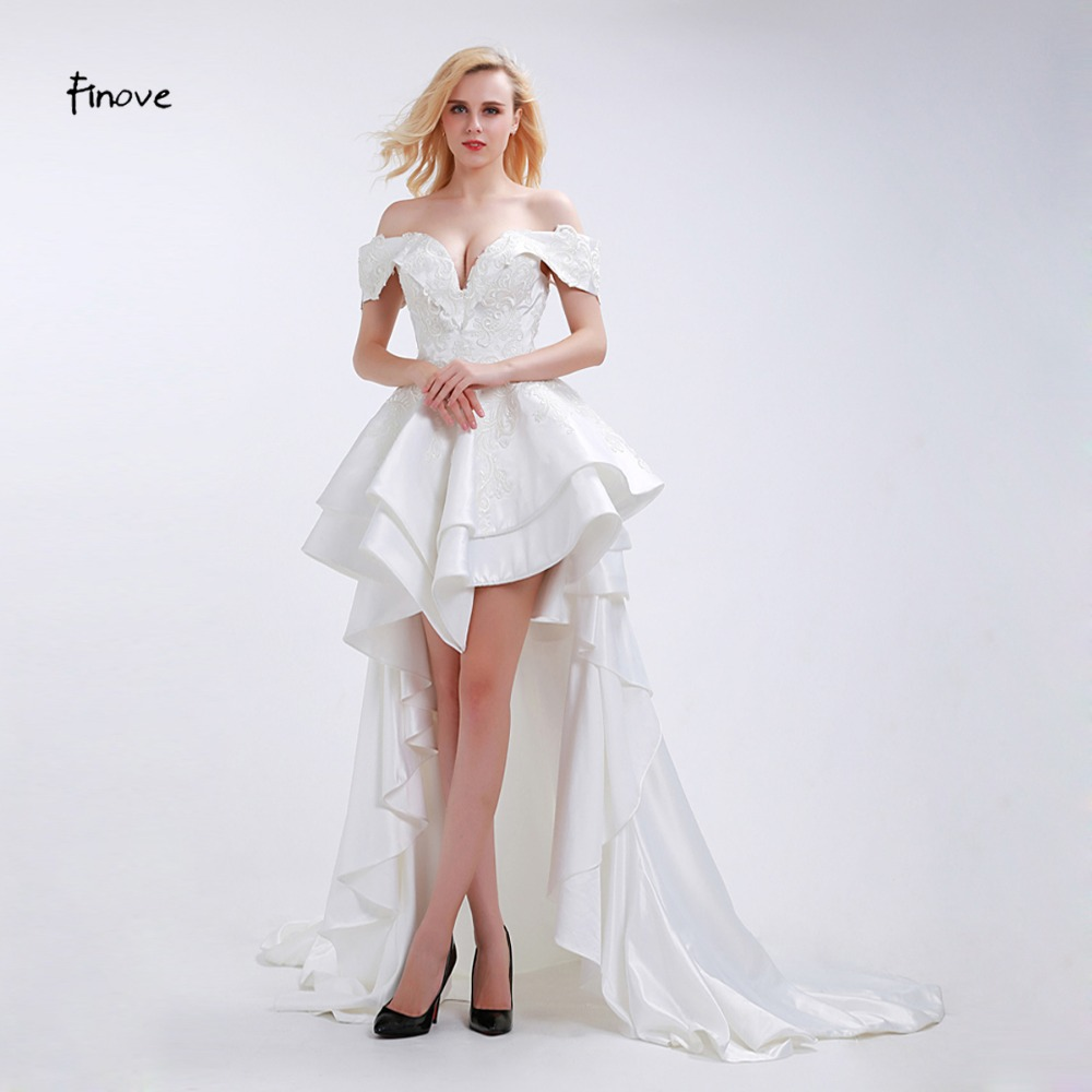 Finove Elegant Vintage Wedding Dress 2018 New Arrival Deep
