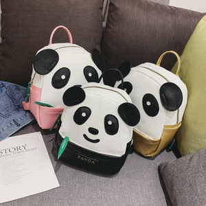 Image 2 - Korean Style Mini Kindergarten School Backpack for Girls Panda Kids Cute Bookbag PU Leather Backpack