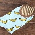 Plátano fruta linda primavera casual summer acogedor algodón del calcetín de las mujeres calcetines cortos medias para gril
