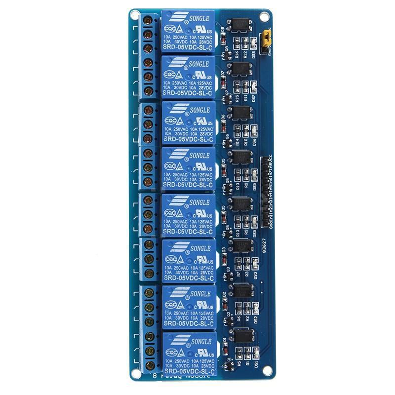 KSOL 5X DC 5V 8 Channel Relay Module Board Shield for PIC AVR Arduino MCU DSP  12v 8 channel relay module board for pic avr mcu dsp arm electronic new original