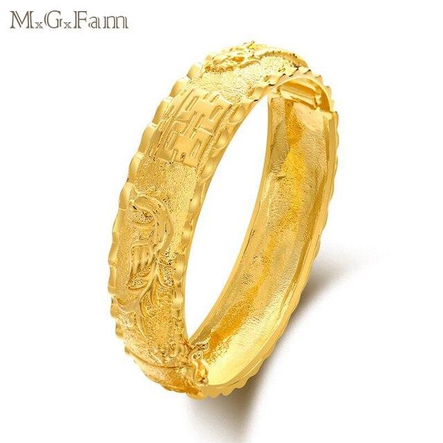 MGFam Dragon and Phoenix Bangles Bracelets for Bridal Wedding
