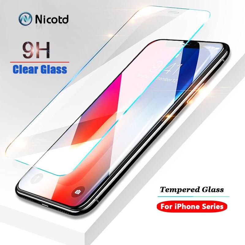 מזג זכוכית עבור iPhone XS MAX XR 5S SE מסך מגן סרט עבור iPhone 7 8 6 6 s בתוספת זכוכית מגן עבור iPhone XS X 8 בתוספת