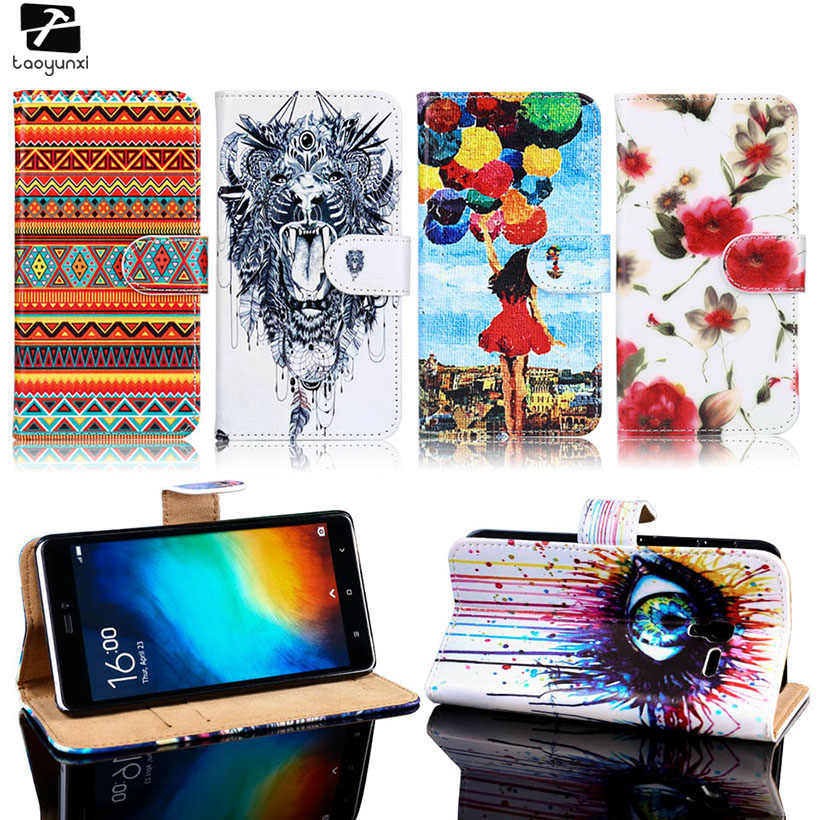 TAOYUNXI PU Leather Flip Case Cover For Alcatel OneTouch One Touch Pop 3 Pop3 5.0 Inch 3G Version 5015D 5015 5016A Housing Bag
