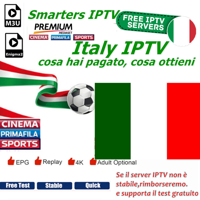US $6 0 |Smarters IPTV Italian Channels Support Android m3u8 enigma2  Mediaset Premium Italy Live TV supported in IPTV italiano-in Set-top Boxes  from