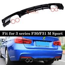 F30 Rear Bumper Diffuser Lip for BMW F31 Sport Model 318i 320i 328i ABS Car Back Diffusers