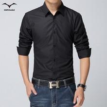 New 2016 Spring Autumn Fashion Brand Men Clothes Slim Fit Men Long Sleeve Shirt solid color Cotton Casual Men Shirt DP