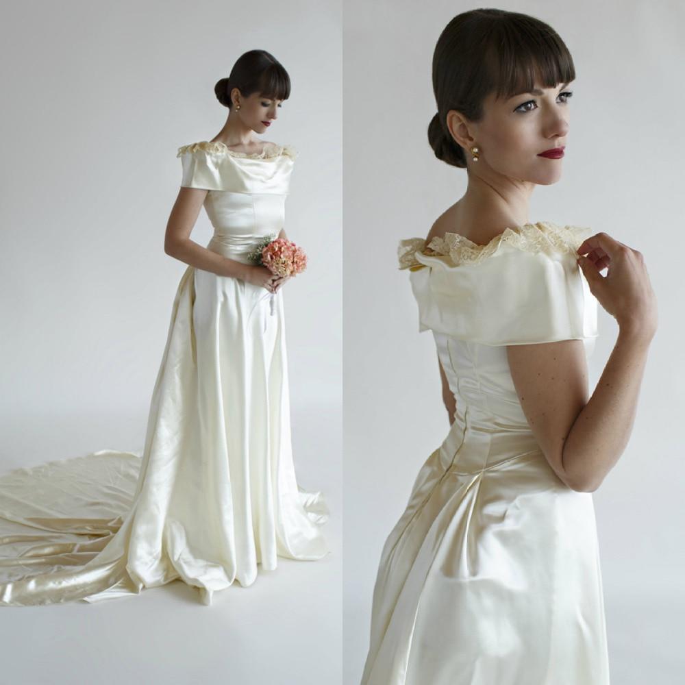 Liquid satin vintage wedding dresses wedding dresses dressesss for Vintage satin wedding dresses