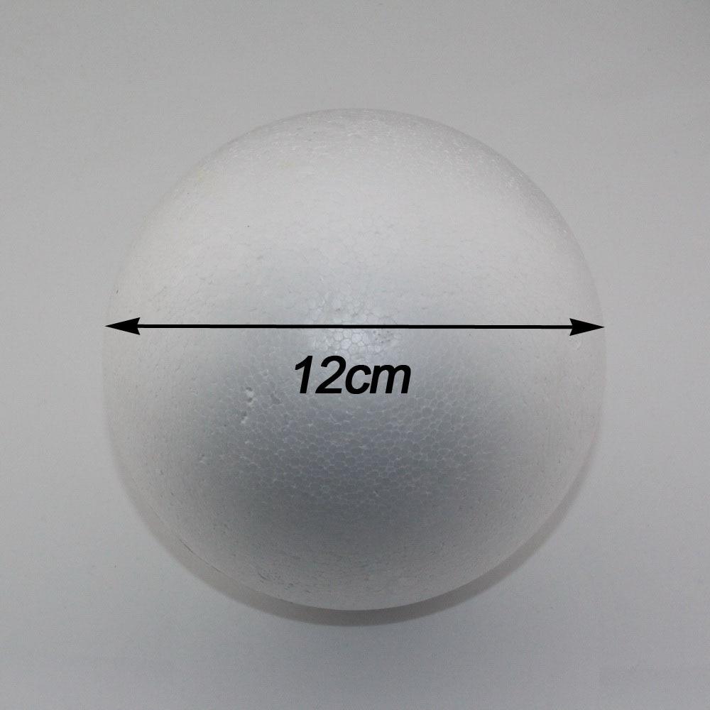 Foam ball craft - Free Shiping Wholesale 12cm Natural White Styrofoam Round Balls Craft Ball Foam Ball Diy Handmade Painted Ball 12pcs Lot