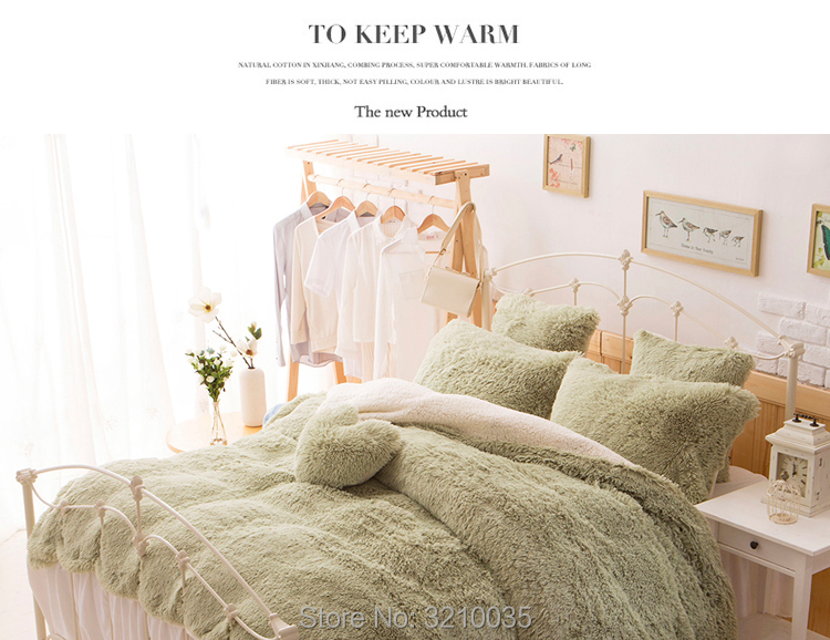 HTB1nH1GmTnI8KJjy0Ffq6AdoVXai - Velvet Mink or Flannel 6 Piece Bed Set, For 5 Bed Sizes, Many Colors, Quality Material