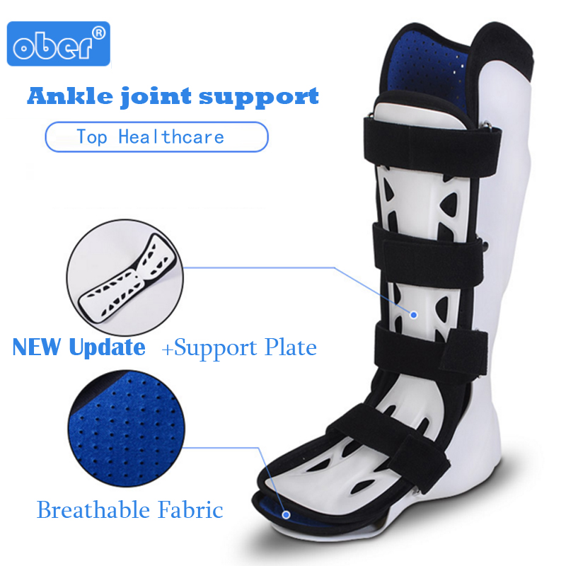Foot Sprains Ankle Brace Support Ankle Foot Fracture Brace Fixed Leg Sprained Ankle Boots AO-16 Ober Orthopedic Corrective Shoes joints with a fixed belt dislocated fracture gesso splint ankle support