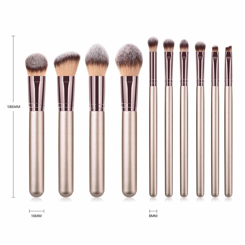 maquiagem escovas conjunto para fundação blush pó