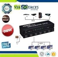 K * K HDMI 2 2 4x4 Matriz + Extrator De Áudio HDMI Switch Splitter Conversor Adaptador Com Controle Remoto controle 2 em 4 fora 4 K 3D 1080 p v1.4