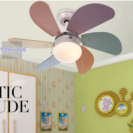 Modern Children Kids Ceiling Fans Lamp Home Bedroom Study Cafes ...