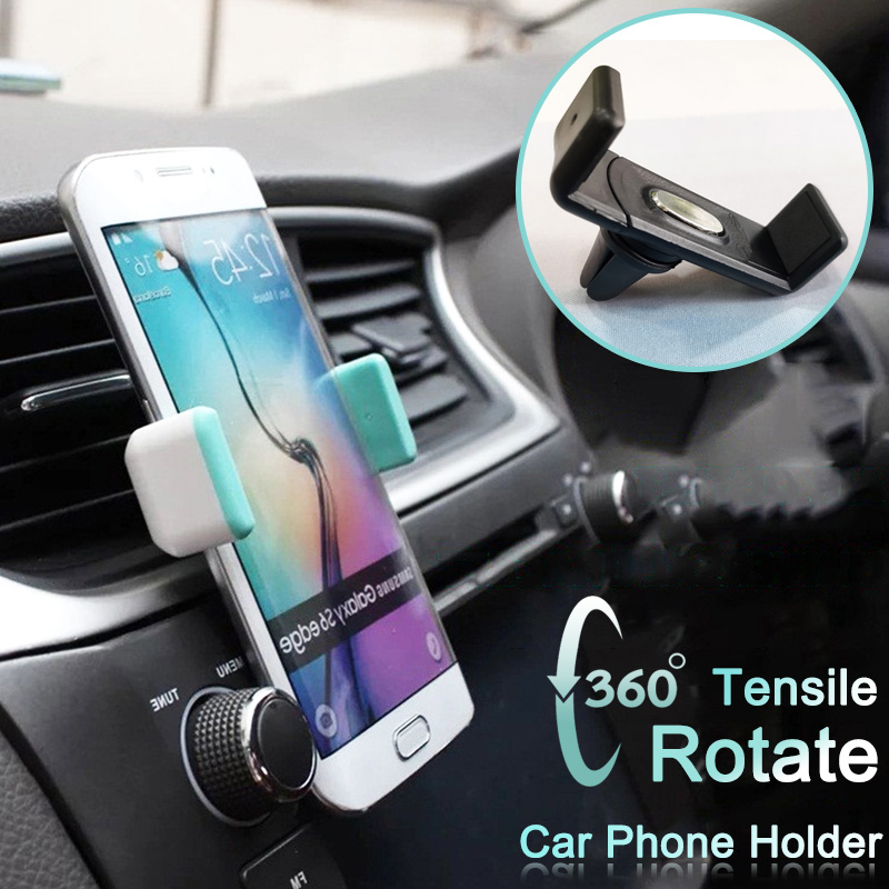 360° Rotating Car Phone Holder For Mobile Phone Mini Outlet Car Holder For Iphone X XR 8 7 Huawei Xiaomi Phone Stand Car Holder