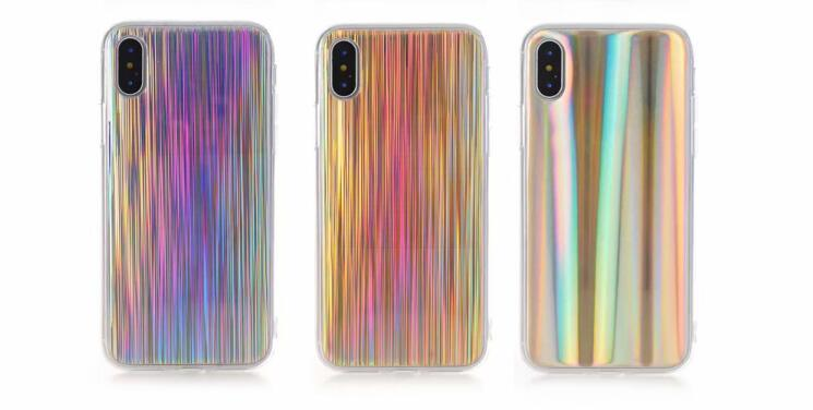 New Luxury Mirror Laser Silicone Case For iPhone 6 6S 7 8 Plus X Stripe TPU Soft Cover for Samsung Note 8 S8 S9 Plus Case IMD