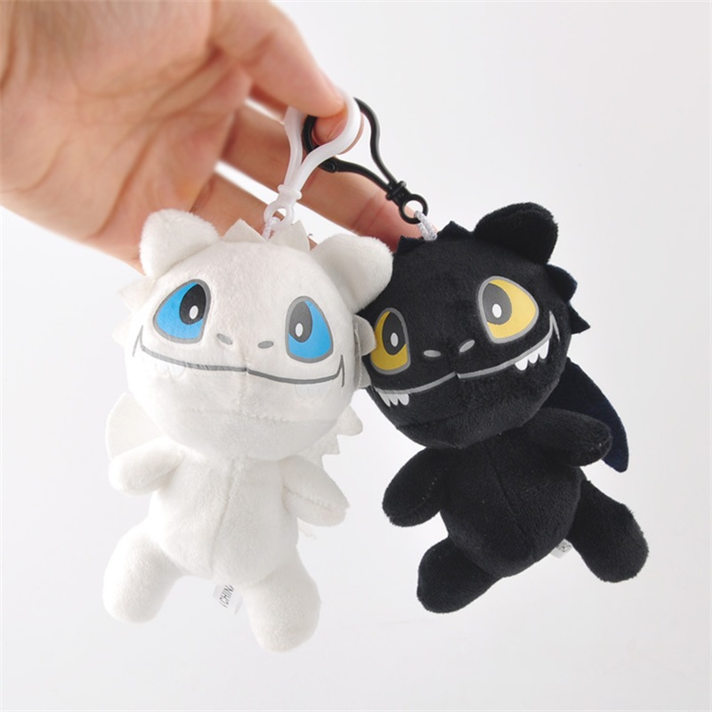 2pcs 12cm How To Train Your Dragon Plush Toys Night Fury Dragon Toothless Dragon Small Pendant Keychains Kids Toys