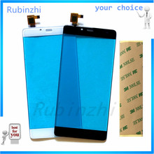 RUBINZHI Mobile Phone Touchscreen For Elephone S3 Touch Screen Panel Digitizer Sensor Touch Front Glass 3M Stickers