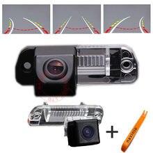 Trilha do carro do CCD Da Câmera Assistência de Estacionamento Invertendo trajetória da Directiva Para MERCEDES Benz R ML GL 350 Back Up Vista Traseira HD