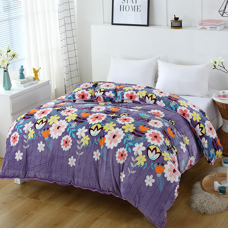 Purple+Color Prints Are Beautiful 1Pcs Duvet Cover With Zipper Quilt Or Comforter Or Single Quilt Cover Winters Warm 220x240cm