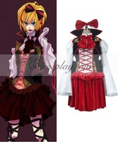 Vocaloid Sandplay Singing of The Dragon Rin Cosplay Costume E001