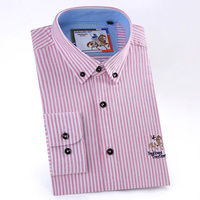 2018 NEW Men Shirts Striped Long Sleeve Mens Business Fashion Design Casual High Quality Oxford Slim Fit Solid Dress Shirts M644