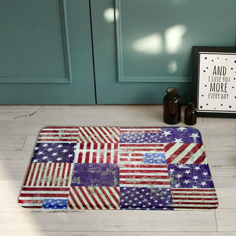 Old School Doormat Printed Flannel Door Mat Home Livingroom Flag Pattern Usa Uk Doormats Antislip Kitchen Bedroom Mats Rug In From Garden On