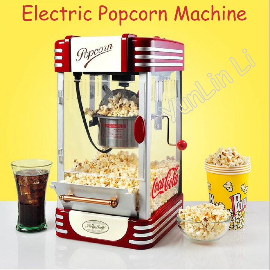Small Electric Popcorn Machine Mini Household Automatic Hot Oil Popcorn Maker Fast Heating With Non-Stick Pot M530 fast food equipment automatic use popcorn machines for sale high quality use popcorn machines for sale caramel popcorn machine