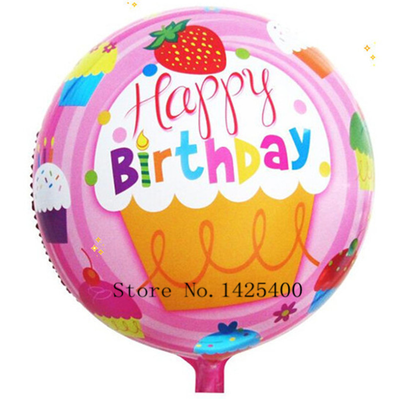 free shipping new 18 inch round aluminum balloons Happy Birthday balloons decora