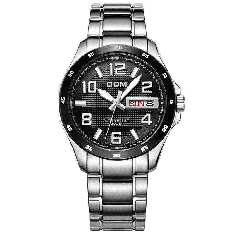 Mens Watches Top Brand Luxury Stainless Steel Wrist Date Bracelet Men s Watches Quartz Clock Male