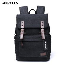 MR.YLLS Men Canvas Korean Style Backpack 15 Inch Laptop Bags Travel Lovers Backpacks School Fashion Men Bag Male mochila