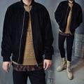 Men MA1 Flight Jacket 2015 Hip Hop Streetwear Plain Pilot Bomber Clothing Air Force Strap Zipper cotton suede Coat
