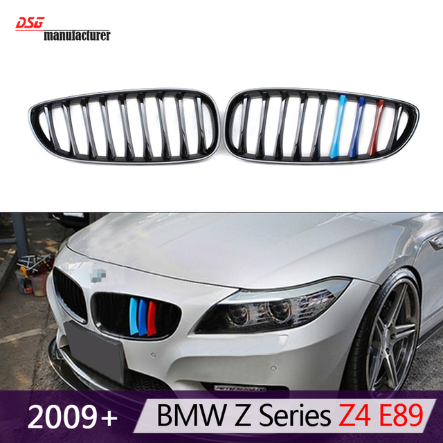 M Emblem Style 3 Color Replacement Front Bumper Grill For 2009 2016 Bmw Z4 E89 Coupe Cabriolet