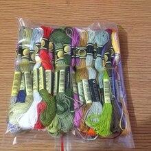Oneroom 8M многоцветные мягкие хлопчатобумажные нитки для вышивки крестиком, нитки для шитья(случайный цвет