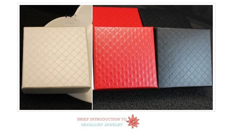 High-grade Grid Princess jewelry box ring bracelet quare gift box 7.3X7.3X3.5CM 4 different color quare carton with Sponge