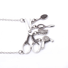 Hair Dryer Tools Designed Vintage Necklace