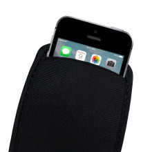 Black Soft Flexible Neoprene Protective Pouch Bag for iPhone SE 5 5S 5C Protect Sleeves Pouch Case for iPhone 4 4S