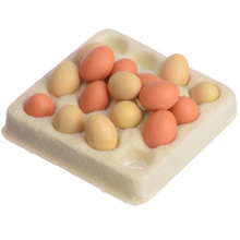 16pcs/set Cooking Game Food Kitchen Mini Egg with Trays For 1:12 Scale Dollhouse Miniature Accessories