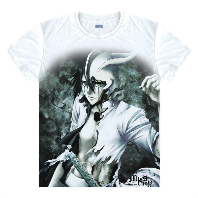 Anime Bleach Cosplay Aizen Sousuke Printed Short Sleeve T shirts Kurosaki Ichigo Tees Hitsugaya Toushirou Casual