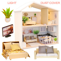 NEW Diy Wooden Handcraft Doll House Miniatures Furniture Miniaturas Dollhouse Kits DIY Dollhouse Puzzle Toys For Children Gift