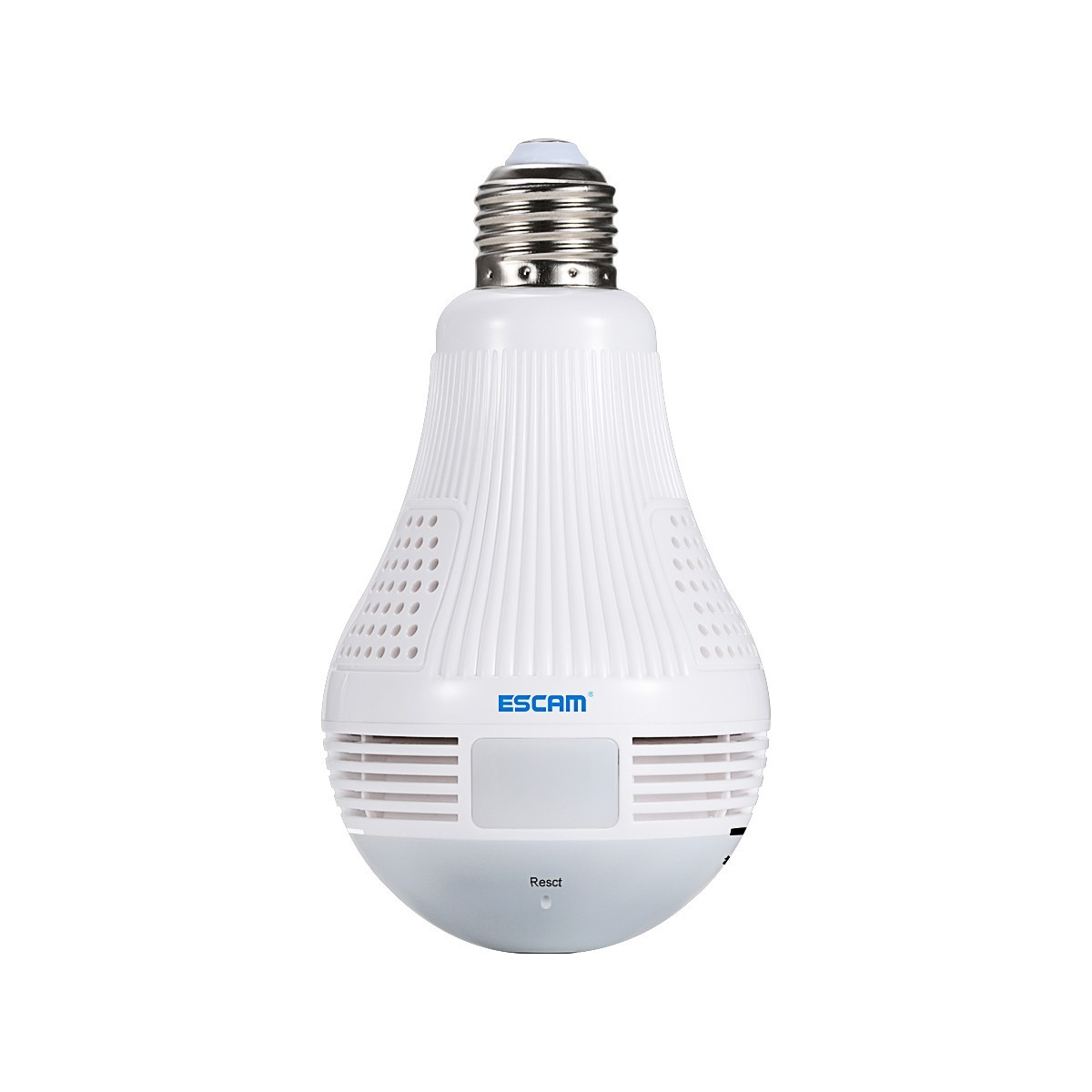 ESCAM QP136 360 Degree Panoramic Bulb Camera HD WiFi IP Camera with Motion Detection, Two-way Audio, 3pcs White LightsESCAM QP136 360 Degree Panoramic Bulb Camera HD WiFi IP Camera with Motion Detection, Two-way Audio, 3pcs White Lights