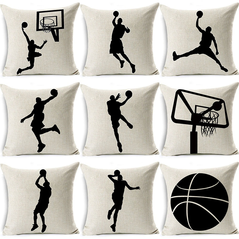 Sports Leagues Basketball Games Pattern Cotton Linen Couch