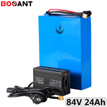 27S 3.2V 32700 cell 84V 24Ah 3000W ebike LiFePo4 battery 84V electric bike LiFePo4 battery with 5A Charger EU US Free Customs(China)